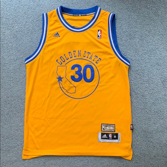 best loved 2b375 d035e Retro Steph Curry Jersey, Size M
